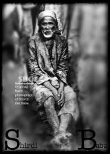 Original & rare photograph of Shirdi Sai Baba. Digitally enhanced print of photo.