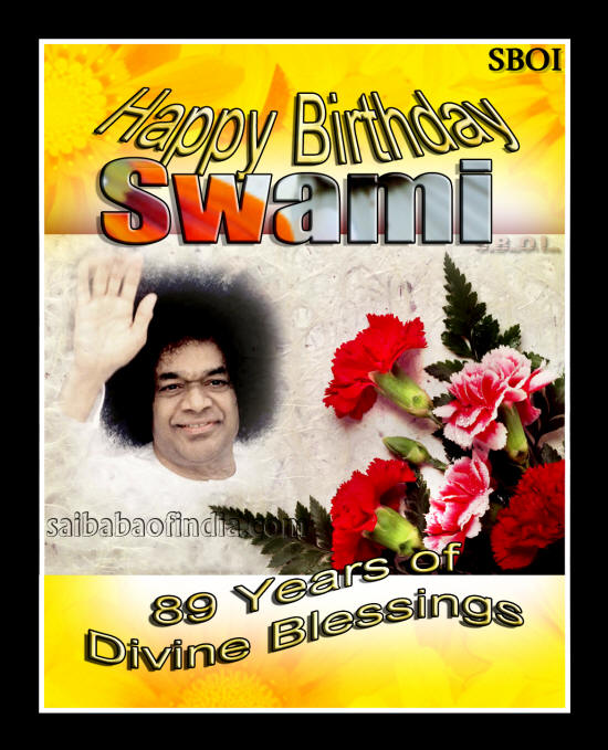 Sri Sathya Sai Baba's 89th Birthday