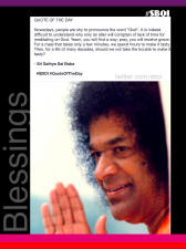 sathya sai baba quote and blessing