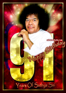 91 years of sathya sai - happy birthday sri sathya sai baba