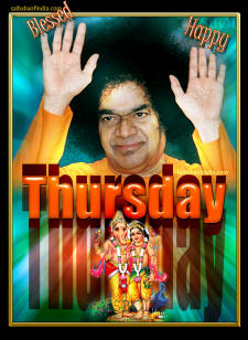 Sri Sathya Sai Babas Day Thursday - Happy Blessed-Sai-Baba-Thursday-Babas-day