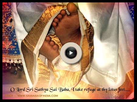 Video of lotus feet- Sri Sathya Sai Baba