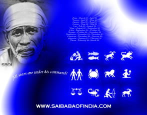 12 Shirdi Sai wallpapers with Zodiac signs. Download your individual Star sign/Zodiac sign with Sai Baba.