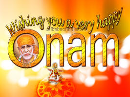 sai baba  Onam Wallpapers