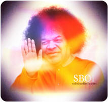 Bhagawan Sri Sathya Sai Baba aura- blessing photo