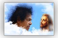 SRI-SATHYA-SAI-BABA-JESUS-CHRIST-LOOKING-AT-EACH-OTHER-FATHER-AND-SON