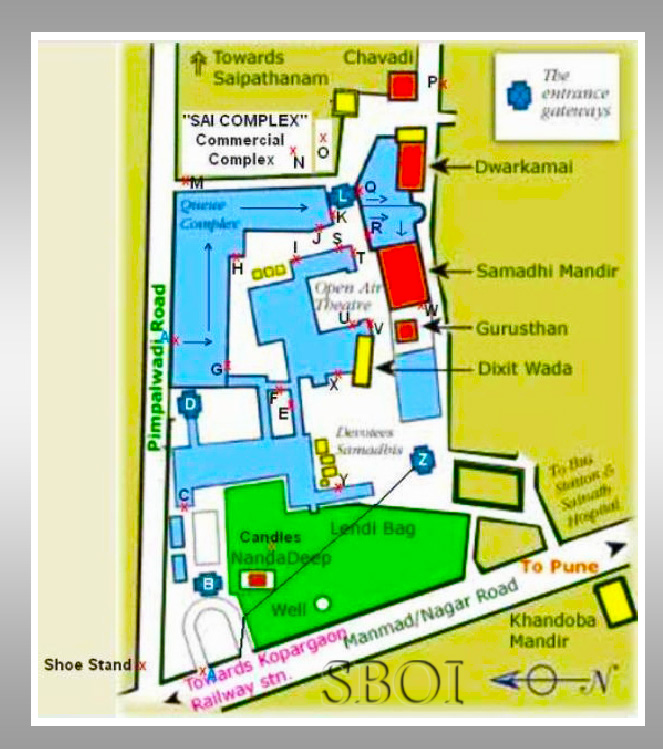 SHIRDI TEMPLE PREMISES GUIDE MAP