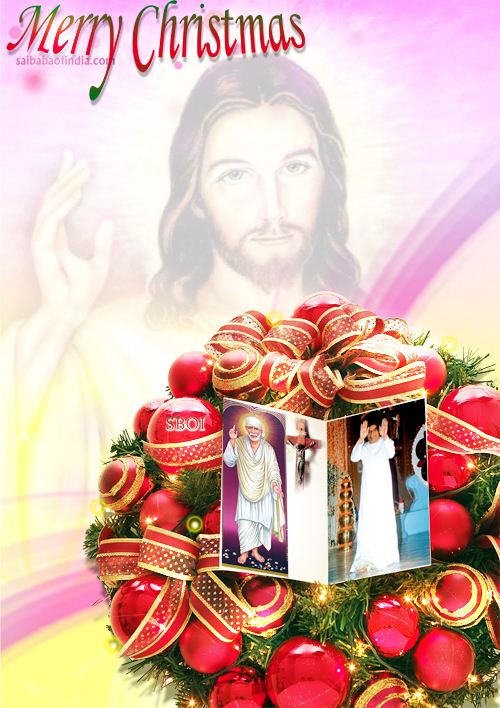 Sai Baba Christmas greeting card