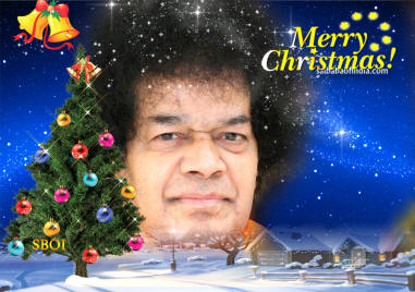 Christmas Wallpapers -sathya sai baba jesus christ