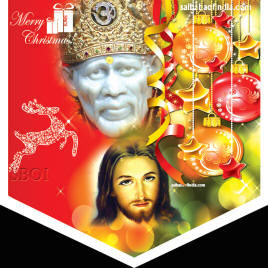 Christmas Wallpapers -shirdi sai baba jesus christ