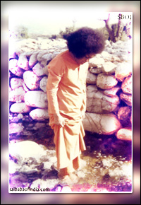 Divine-Lord-sri-sathya-sai-baba-feet-in-river-water