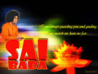I AM ALWAYS WITH YOU SRI SATHYA SAI BABA - WALLPAPER