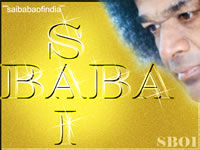 Sai Baba Gold letters
