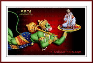 SBOI Wallpaper Download Sri Sai Baba + Sri Hanuman