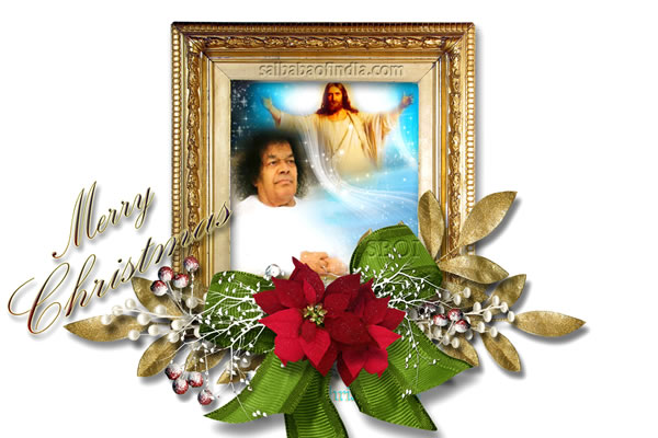 Celebrations from Prasanthi Nilayam jesus and sri sathya sai baba