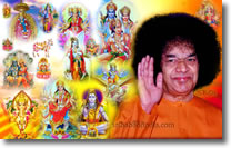 SRI SATHYA SAI BABA WITH INDIAN GOD - WALLPAPER - COLLAGE-BACKGROUND-DESKTOP