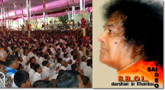 Video Shri Sathya Sai Baba gives darshan in Mumbai