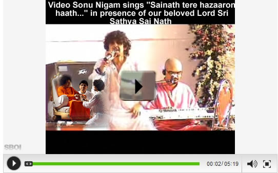 Video-sonu-nigam-sings-shri-Sathya-sai-baba-gives-darshan-in-mumbai