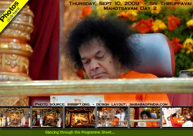 Today, the morning rituals proceeded like yesterday, with the Sathya Sai Sahasranamam being chanted for the worship. Bhagavan came for darshan at 5.10 pm and sat onstage listening to the Vedic chants after His darshan round. At 5.50 pm,...