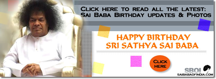Updates : Happy birthday Sai Baba