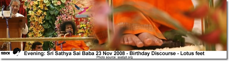 today evening Bhagawan gave His Birthday message 23rd Nov. 2008